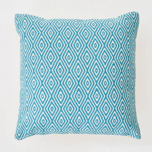 Recycled Bottle - Cushion - Large Diamond - Dove Grey, Teal or Navy Blue